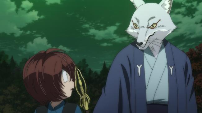 第 33 話「狐の嫁入りと白山坊」の場面1