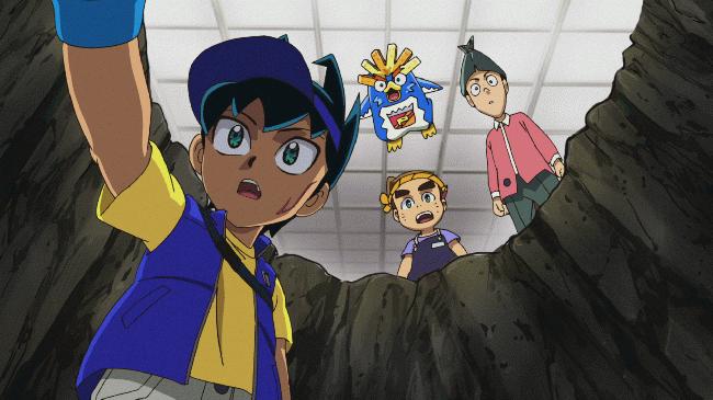 第 16 話「トッタと謎の古代バーコード文明!~勇者と呼ばれた少年~」の場面1