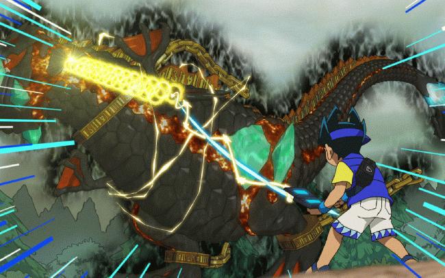 第 17 話「トッタと謎の古代バーコード文明!~ジュラ紀の破壊神~」の場面3