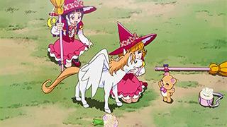 第 8 話「魔法のほうきでGO!ペガサス親子を救え!」の場面1