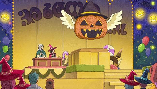 第 38 話「甘い?甘くない?魔法のかぼちゃ祭り!」の場面1